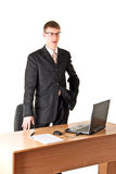 Boss disappointed,  isolated on white Royalty Free Stock Photo