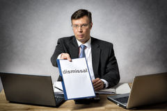 Boss dismiss somebody Royalty Free Stock Photography