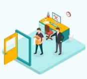 Boss dismissed employee. Isometric 3d vector illustrations Stock Photo