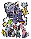 Boss&documents stock illustration