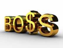 The boss and the dollar Royalty Free Stock Images