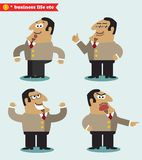 Boss emotions in poses. Standing set vector illustration Royalty Free Stock Photos