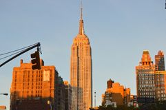 The Boss. The Empire State Building in New York royalty free stock photos