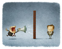 Boss and employee communication Royalty Free Stock Images