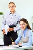 Boss and employee Stock Image