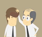 Boss encourage businessman. Vector Esp10 illustration Royalty Free Stock Images