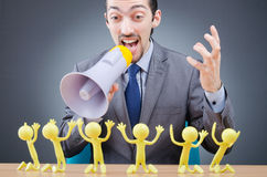Boss with figures of  subordinates Royalty Free Stock Image