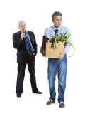 Boss and fired man Royalty Free Stock Image