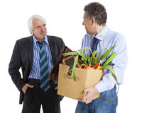 Boss and fired man Royalty Free Stock Photography