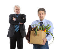 Boss and fired man Royalty Free Stock Images
