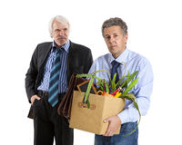 Boss and fired man Stock Image