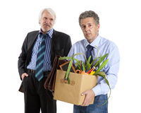 Boss and fired man Stock Photography