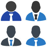 Boss Flat Icons. Boss flat vector illustration set. An  icons on a white background Royalty Free Stock Photo