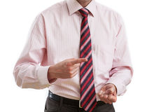 Boss with gesture of threatening Stock Image