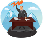 The boss gets angry and throws lightning. Royalty Free Stock Photo