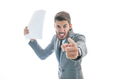 Boss getting very angry with employee Stock Photography