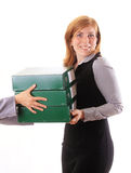 Boss give away work for her assistant Stock Photography