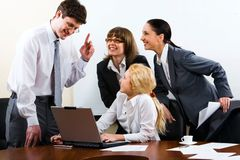 Boss giving  important instruc Royalty Free Stock Image