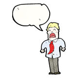 boss giving orders cartoon Royalty Free Stock Images