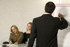 Boss Giving Presentation In Office Stock Photography