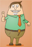 Boss-Good Job. Boss giving his thumb up. eps 8 file Stock Images