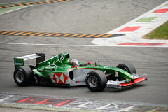 Boss GP Jaguar R5 Formula 1 car Royalty Free Stock Photos