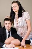 Boss and him secretary Royalty Free Stock Photo