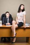 Boss and him secretary Royalty Free Stock Photography