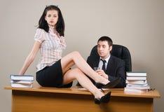 Boss and him secretary Stock Photos
