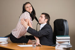 Boss and him secretary Royalty Free Stock Photography