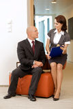Boss and his secretary Stock Photo