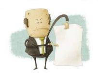 Boss holding empty write paper Royalty Free Stock Photo