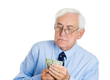 Boss holding money Stock Photography