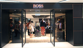 Boss hugo boss shop in hong kong Royalty Free Stock Image