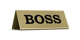 Boss identification plate Stock Photography
