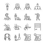 Boss line icon set. Included the icons as leader, team, bossy, command, manager, chief and more. Line icon vector: Boss line icon set. Included the icons as Stock Photography