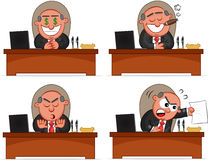 Boss Man Set 32 royalty free illustration