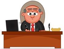 Boss Man Signing. Cartoon boss man signing Royalty Free Stock Images
