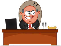 Boss Man Sneaky. Cartoon boss man is sneaky Stock Images