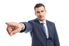 Boss manager showing fired dismiss gesture stock photo