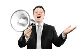 Boss with megaphone Royalty Free Stock Photos
