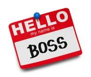 Boss Name Tag imagen de archivo