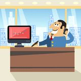 Boss in office Royalty Free Stock Image
