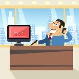 Boss in office vector illustration