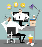 Boss in the office Stock Photography