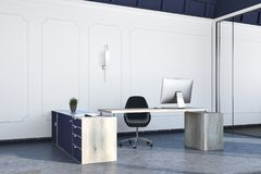 Boss office interior, large table Stock Photography
