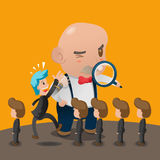 Boss Office Search Personnel Man Vector Stock Images