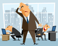 Boss in perplexity Stock Images
