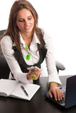 The boss - Preety business secretarry woman working in office is Stock Photo