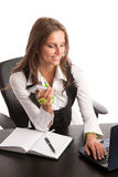 The boss - Preety business secretarry woman working in office is Stock Photography